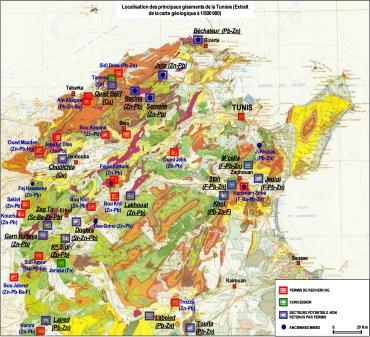 La tunisie constitue un pays minier important si l on juge - Office national de recherche geologique et miniere ...